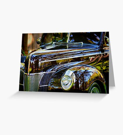 Reflections on Black Greeting Card