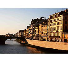 Sunset On the Arno Photographic Print