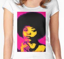 FREE ANGELA (POP-ART) Women's Fitted Scoop T-Shirt