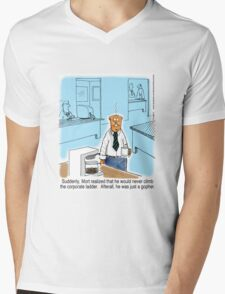 Just a Gopher - climb the corporate ladder? Mens V-Neck T-Shirt