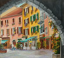Archway to Annecy's Side Streets by Charlotte  Blanchard