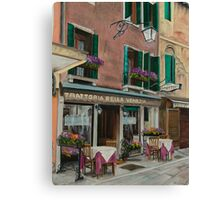 Beautiful Restaurant In Venice Canvas Print