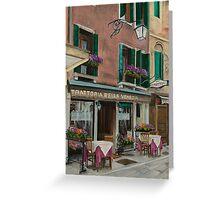 Beautiful Restaurant In Venice Greeting Card