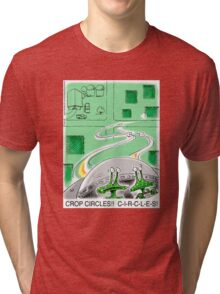 Crop Circles - Outer Space aliens can't make correct crop circles Tri-blend T-Shirt