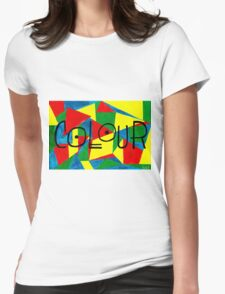 COLOUR and SHAPE  Womens Fitted T-Shirt