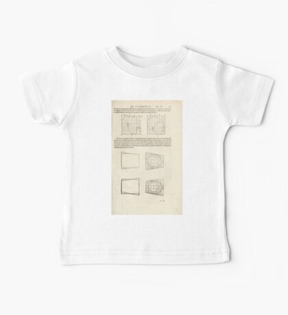 Famous Painter Parts Human Body Symmetry Four Books Geomety 1557 Albrecht Durer 0167 Heads Baby Tee