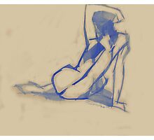 Blue Back Photographic Print
