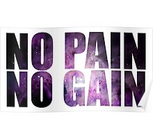 NO PAIN NO GAIN ultimate hipster edition Poster