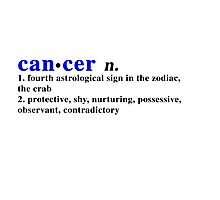 Zodiac Definitions: Cancer Photographic Print