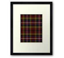 02827 Lafayette Parish, Louisiana Tartan Framed Print