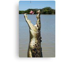 Chomp - salt water croc on Adelaide River, NT Canvas Print