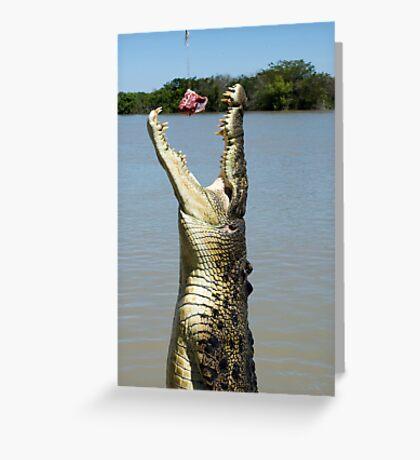 Chomp - salt water croc on Adelaide River, NT Greeting Card