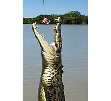 Chomp - salt water croc on Adelaide River, NT Photographic Print