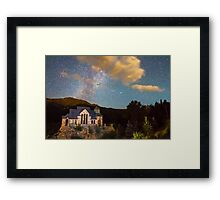 Perseid Meteor Shower and Chapel On The Rock Framed Print