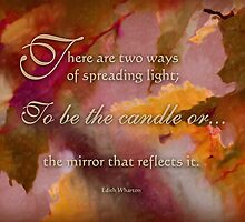 spread light - wisdom saying 9 by vigor