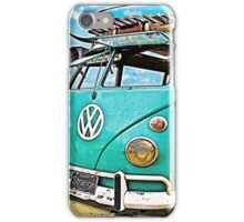 VW Surf Bus Strange Day at the Beach iPhone Case/Skin