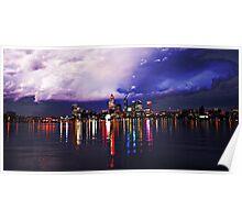 Perth Skyline Poster