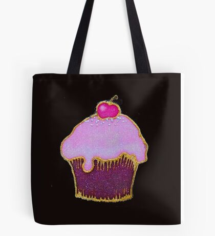 Yummy pink cupcake picture Tote Bag