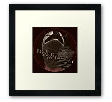 Book Sand Worm Framed Print