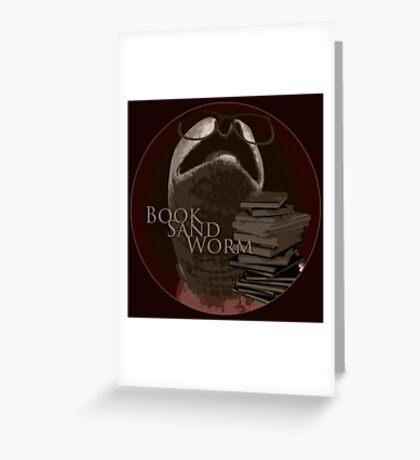 Book Sand Worm Greeting Card
