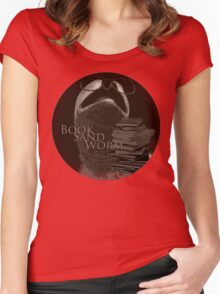 Book Sand Worm Women's Fitted Scoop T-Shirt