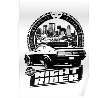 Night Rider (white) Poster