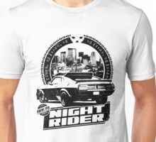 Night Rider (white) Unisex T-Shirt