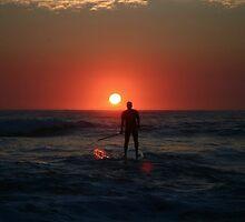 Paddling into the Sun by Matt Ower