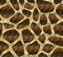 Houndstooth Giraffe (Double Pattern) by jezkemp