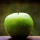 The apple sat for awhile contemplating what might have been.... by Carol Knudsen