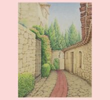 Ruelle, Path in Eze, France Kids Tee