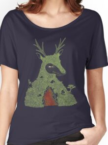 Stag at the Heart of the Mountain Women's Relaxed Fit T-Shirt