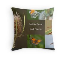 British Flora and Fauna  Throw Pillow
