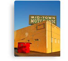 Mid-Town Motor Inn Canvas Print