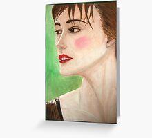 Elizabeth' secrets (Keira Knightley) Greeting Card