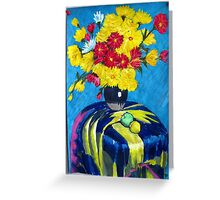 Flowers & Table cloth Greeting Card