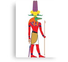 Sobek [FRESH Colors] | Egyptian Gods, Goddesses, and Deities Canvas Print