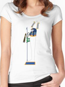 Osiris Version 1 | Egyptian Gods, Goddesses, and Deities Women's Fitted Scoop T-Shirt