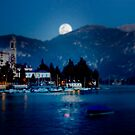 moon over Bellagio by mario farinato