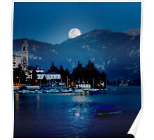 moon over Bellagio Poster