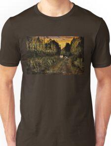 A Walk Along the River at Sunset Unisex T-Shirt