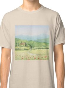 Tuscan Vineyard, Tuscany, Italy Classic T-Shirt