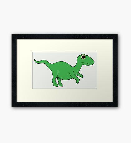 Tiny velociraptor Framed Print