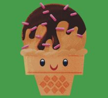 Chocolate Ice Cream with Sprinkles One Piece - Short Sleeve