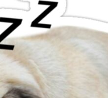 Sleeping Loaf Pug Sticker