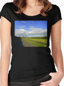 An August Evening........................Ireland Women's Fitted Scoop T-Shirt
