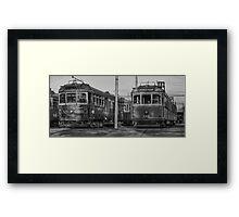 Old Trams HDR Framed Print