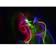 Swirling lights Photographic Print