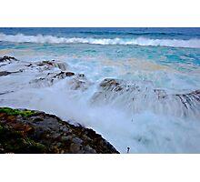 Wet Rock Shelf Photographic Print