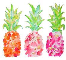 Cute Pineapples by juliapram